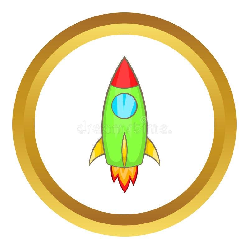 Rocket vector icon royalty free illustration