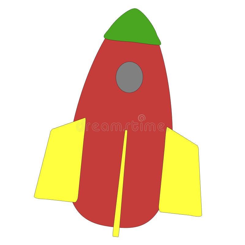 Rocket vermelho ilustração stock