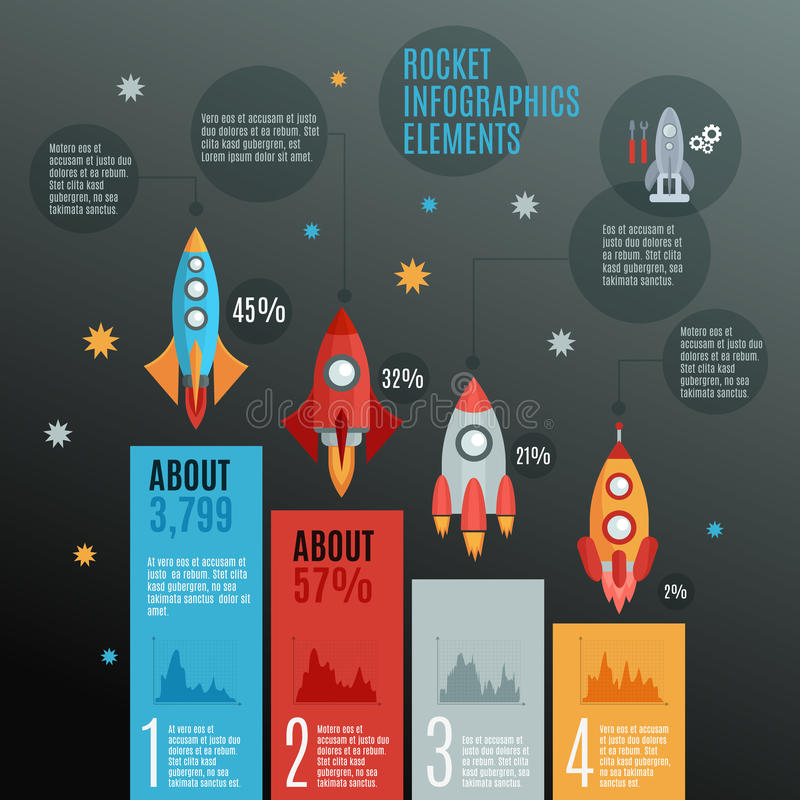 Free Rockets Infographic Set Royalty Free Stock Images - 59880359