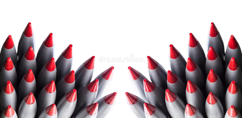 Rockets isolaram-se foto de stock royalty free