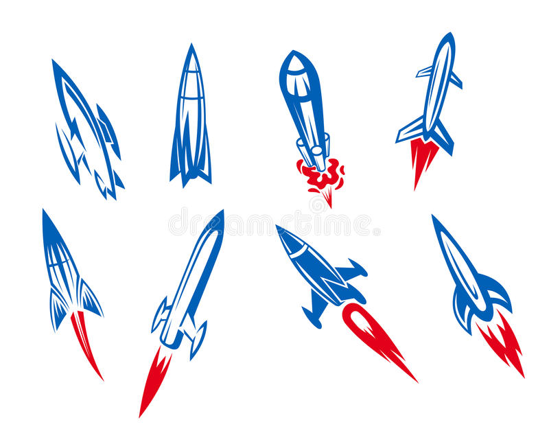 Rockets and missiles stock photography