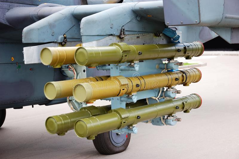 Download Rockets Placed Under A Plane Wing Stock Photo - Image of missile, rocket: 9483404