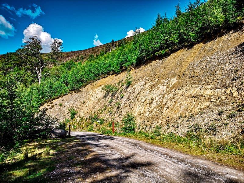 Rockface della montagna in valle di slancio immagine stock libera da diritti