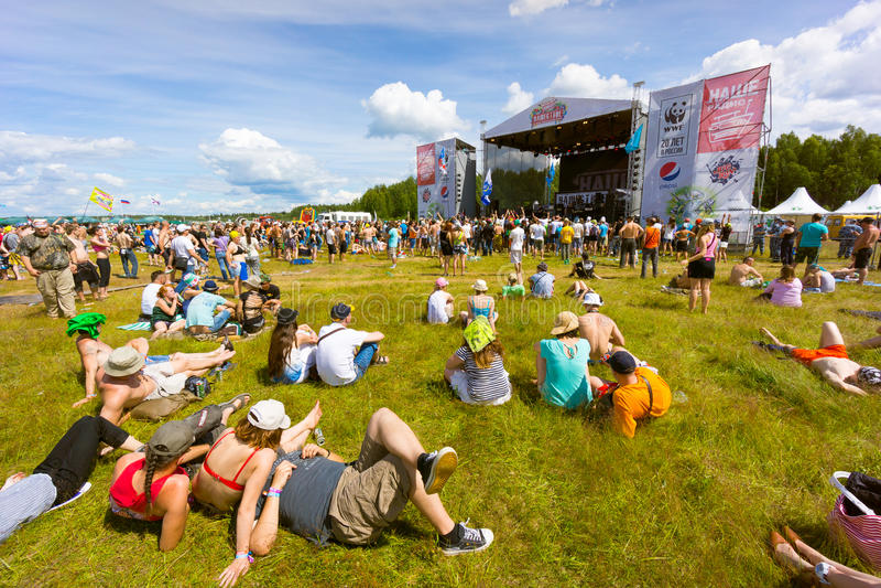 Rockfestival lizenzfreie stockbilder