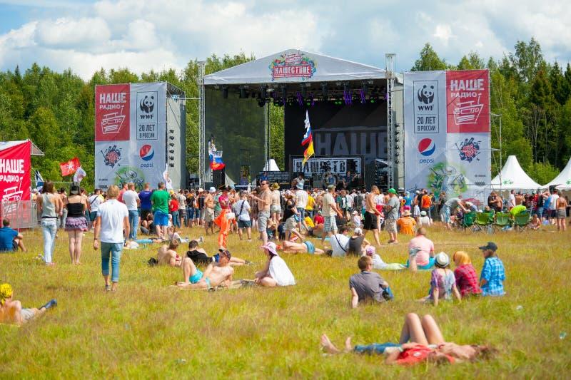 Rockfestival stockfotos