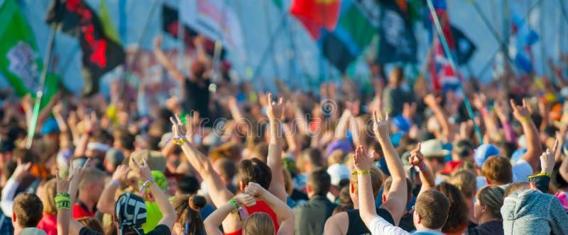 Rockfestival stockfoto