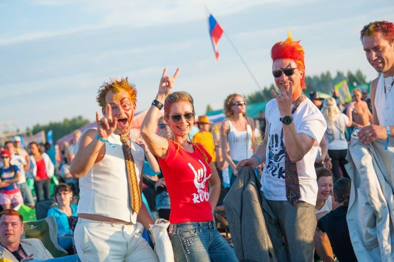 Rockfestival stockbild