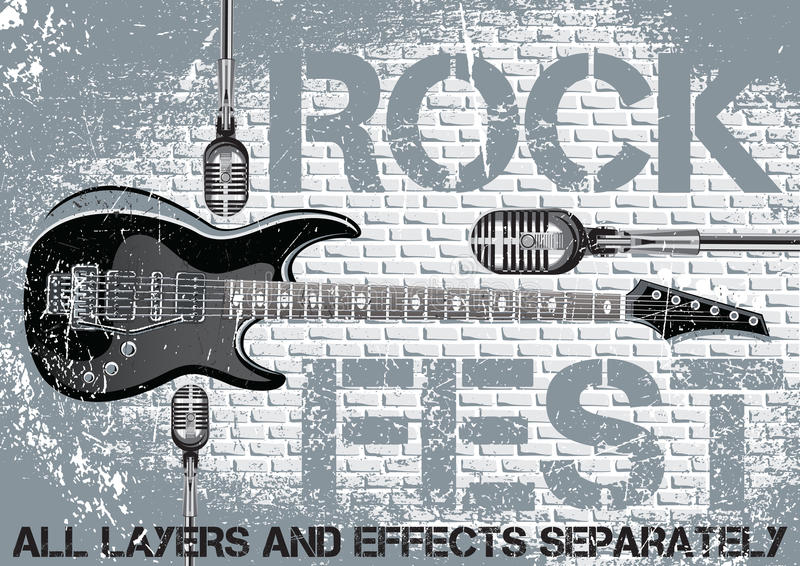 Rockfestivaldesignschablone stock abbildung