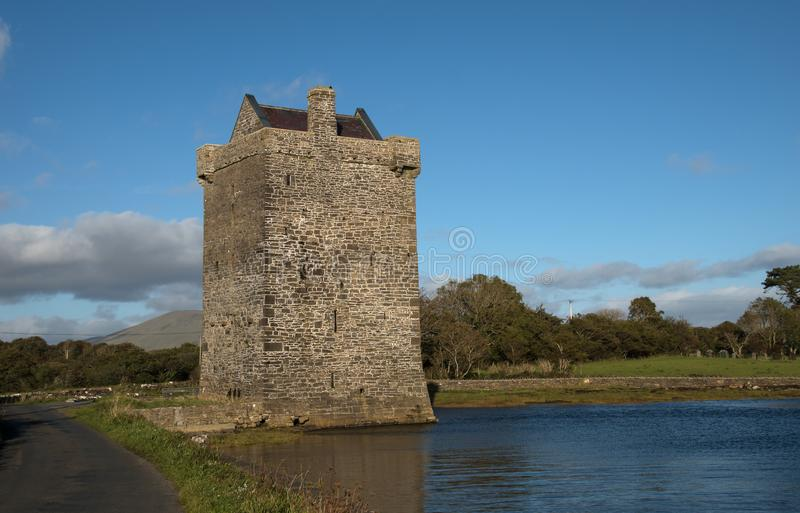 Rockfleet-Schloss, Grafschaft Mayo, Irland stockfotos