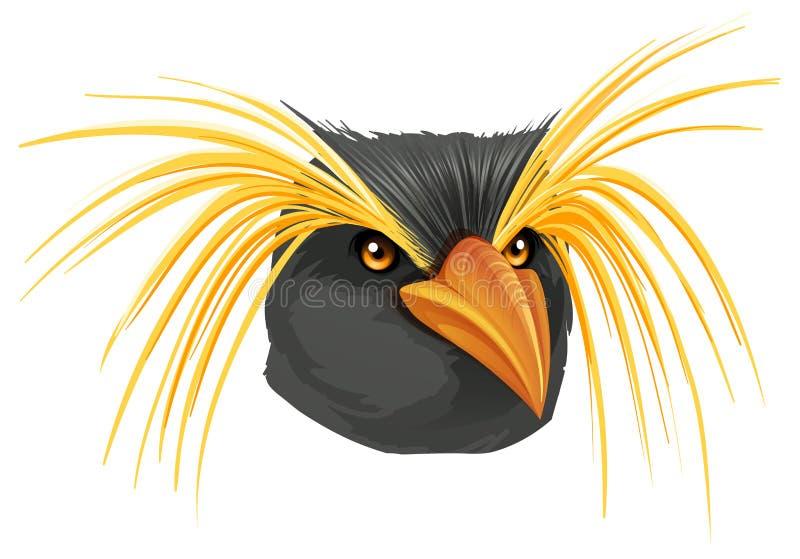Rockhopper pingvin vektor illustrationer