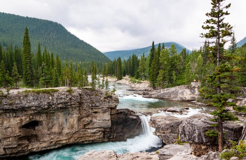 Rockies waterfall stock photos