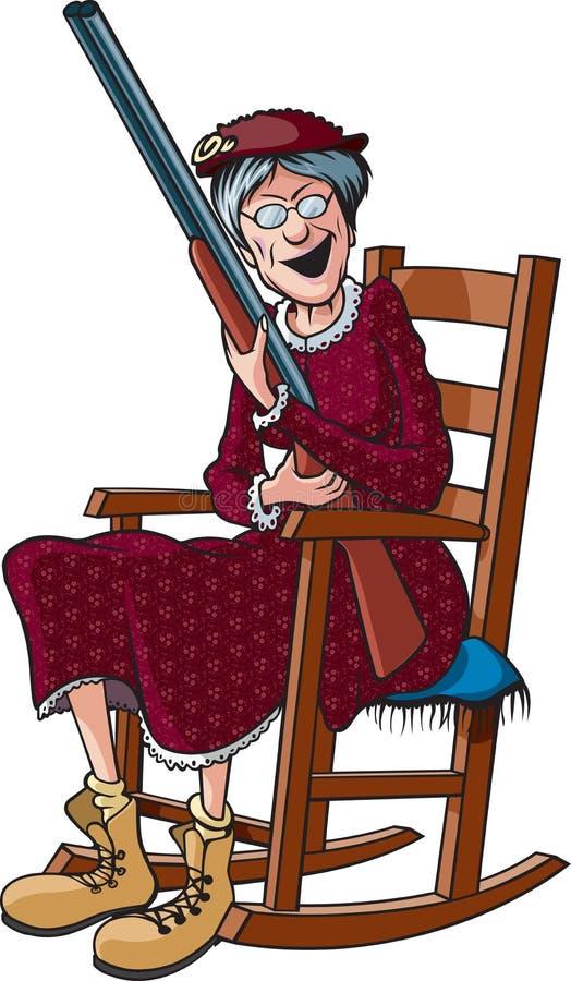 rockin granny stock vector illustration of female grandmother 31789114. Black Bedroom Furniture Sets. Home Design Ideas