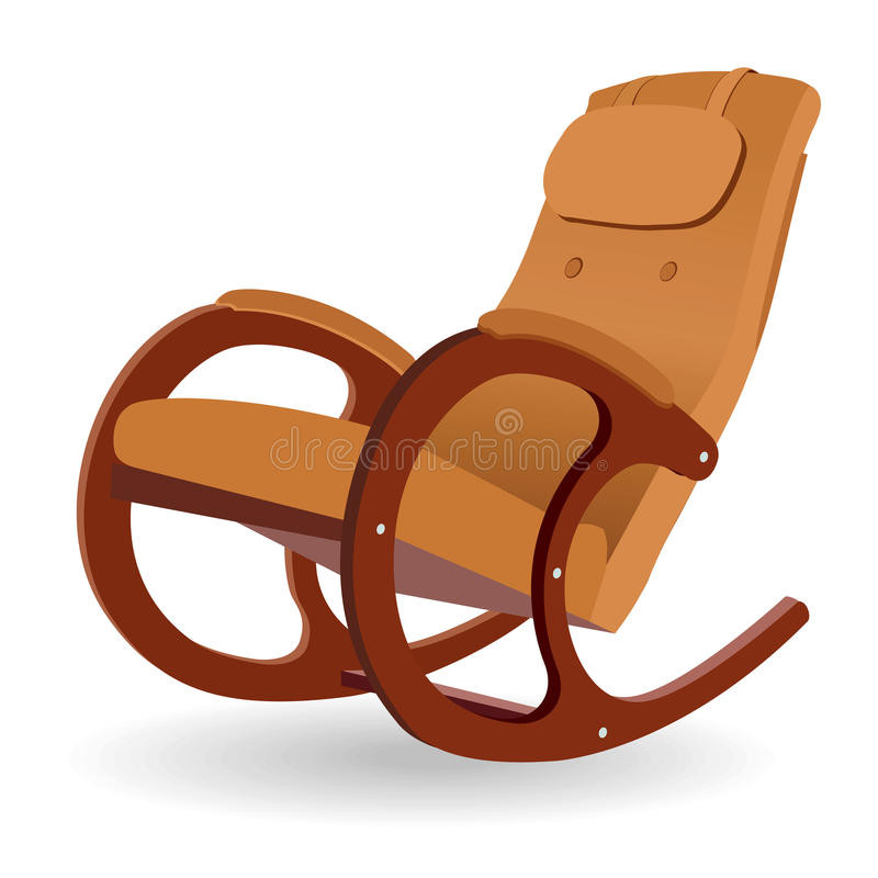 Download Rocking chair stock vector. Illustration of soft, armchair - 21164303