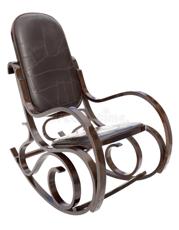 Rocking chair isolated on white stock photos