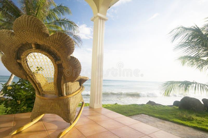 Rocking chair resort corn island nicaragu royalty free stock image