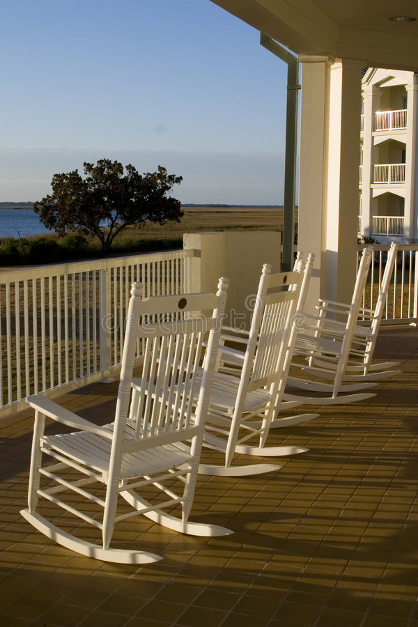 Rocking chairs stock images