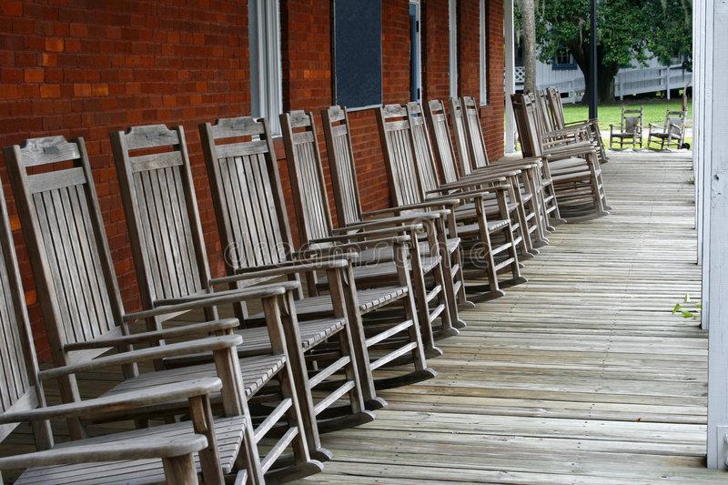 Download Rocking chairs stock image. Image of chairs, porch, antique - 3451229