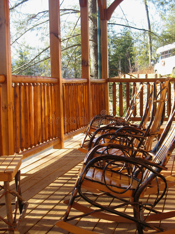 Rocking Chairs. stock photos