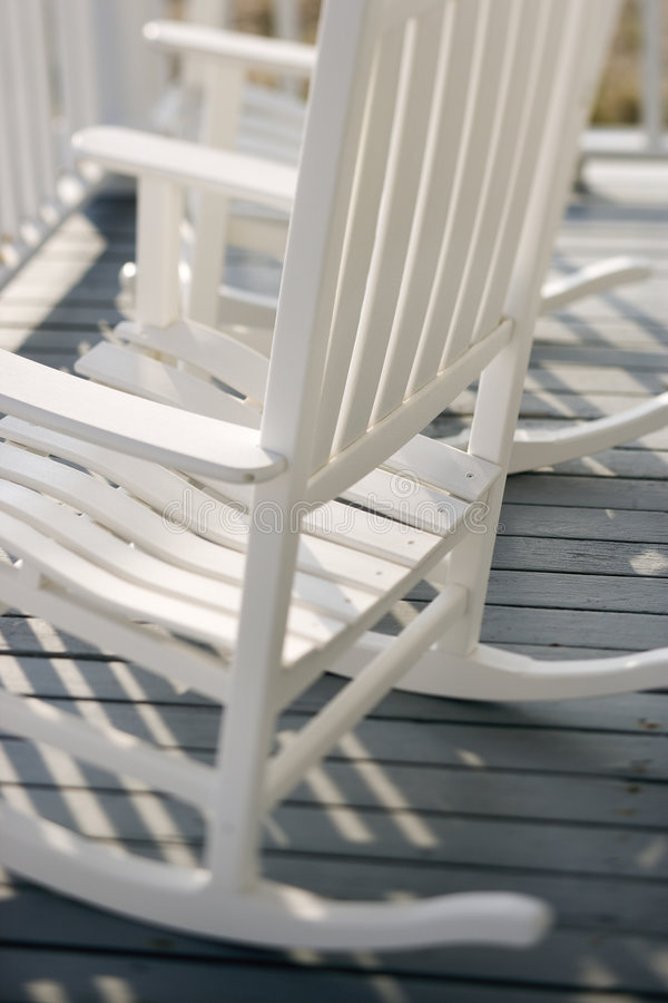 Rocking chairs on porch. royalty free stock photo