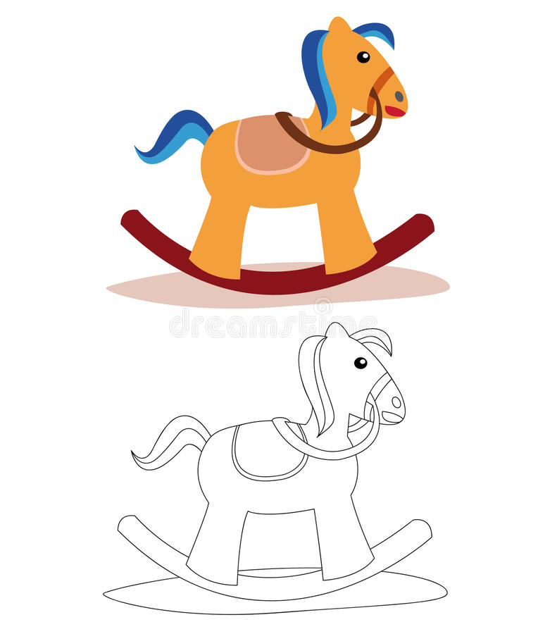 Rocking horse vector illustration