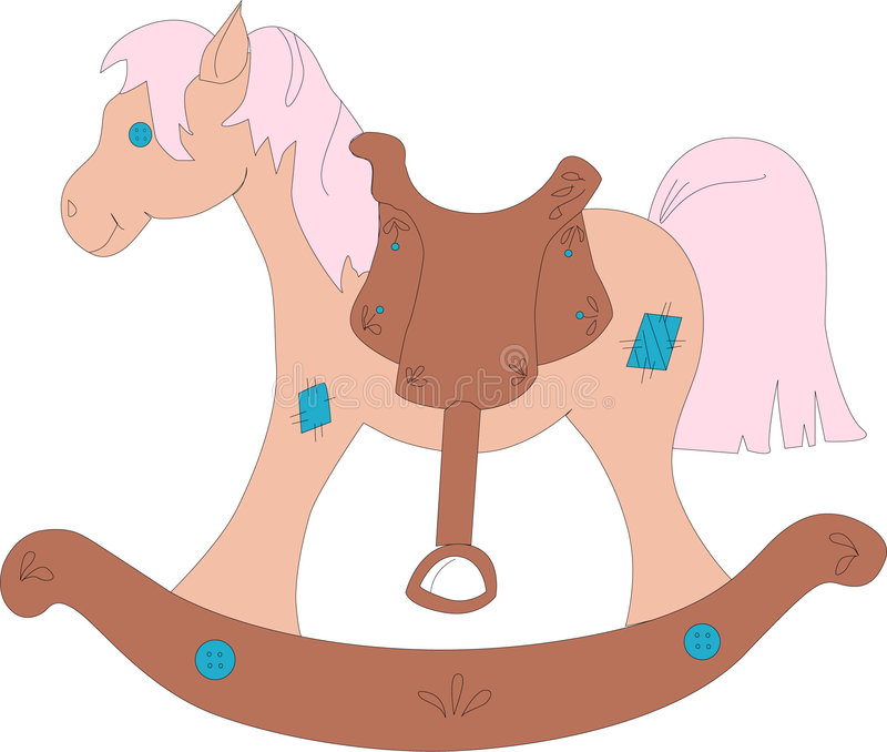 Download Rocking Horse stock illustration. Image of toys, western - 378443
