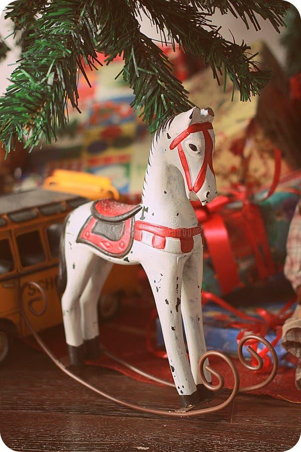 Christmas rocking Horse royalty free stock image