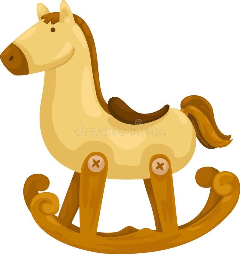Rocking Horse Vector Stock Vector Illustration Of Doll