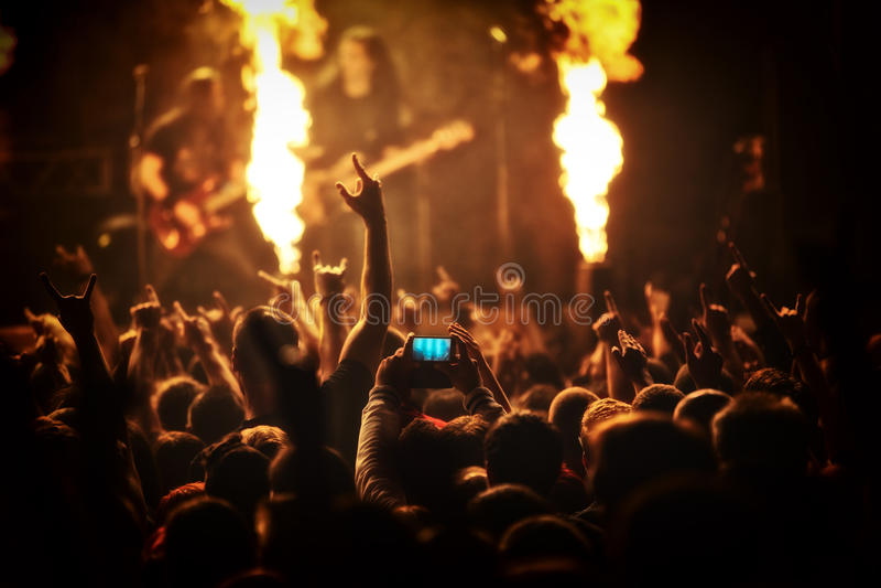 Rockkonzert, Musikfestival lizenzfreies stockfoto