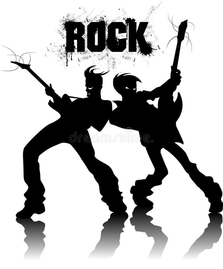Rockmetall vektor illustrationer