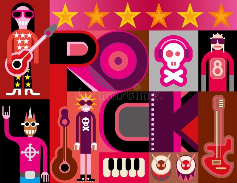 Rockmusik vektor abbildung
