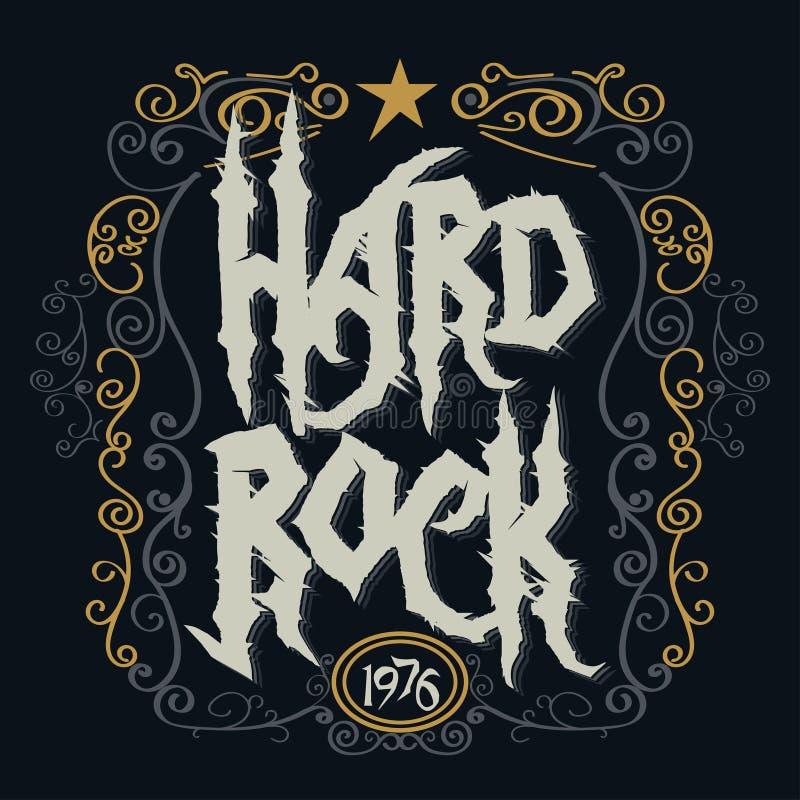 Rockmusikdruck stock abbildung