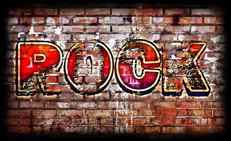 Rockmusikplakat stock abbildung