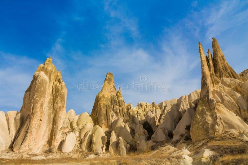 Rockowa formacja góruje w Cappadocia, Turcja obrazy stock