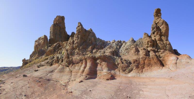 Rockowa formacja przy cañadas Del Teide w Tenerife wyspie obraz stock