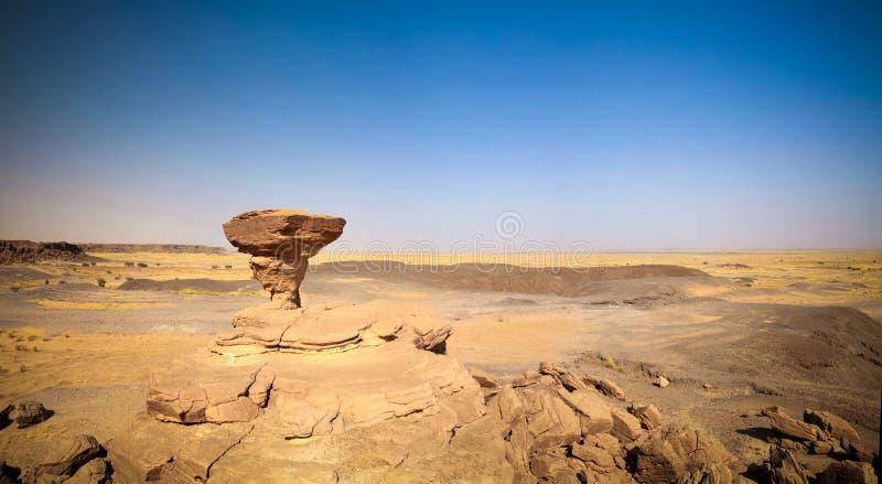 Rockowa formacja przy saharą blisko Tchirozerine regionu, Agadez, Niger obrazy stock