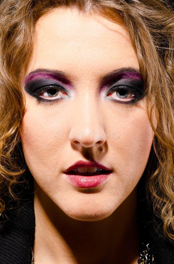 rockowa glam kobieta zdjęcie stock