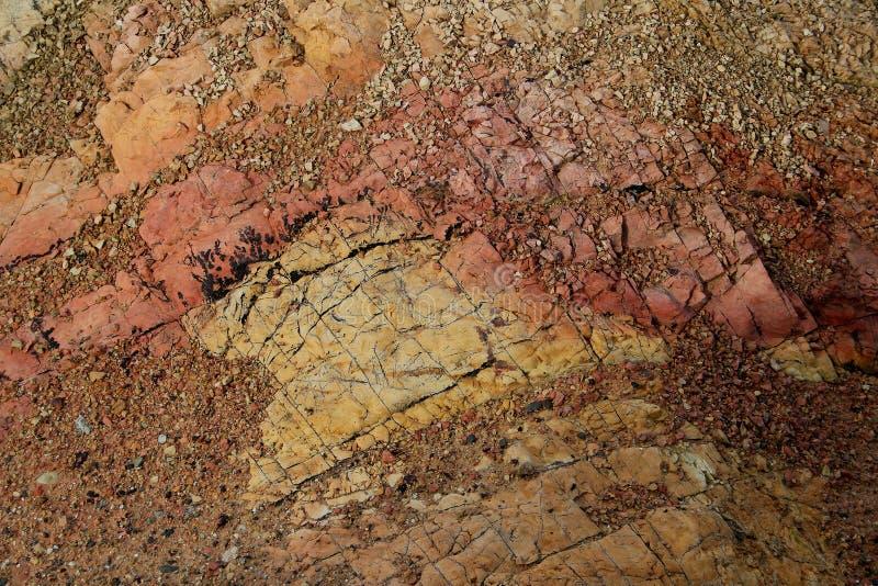 Rockowa nauka, Północna linia brzegowa Anglesey, Walia obrazy stock