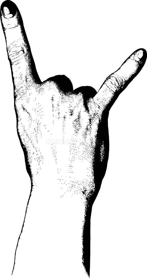rockowa ręka ilustracji