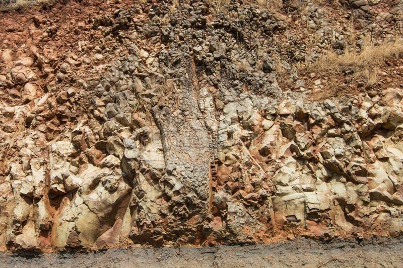 Rockowa tekstura i kamienie obrazy royalty free