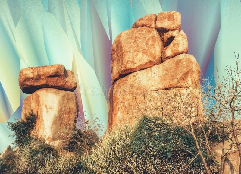 Rockowe formacje & Psychodeliczni wzrok obraz royalty free