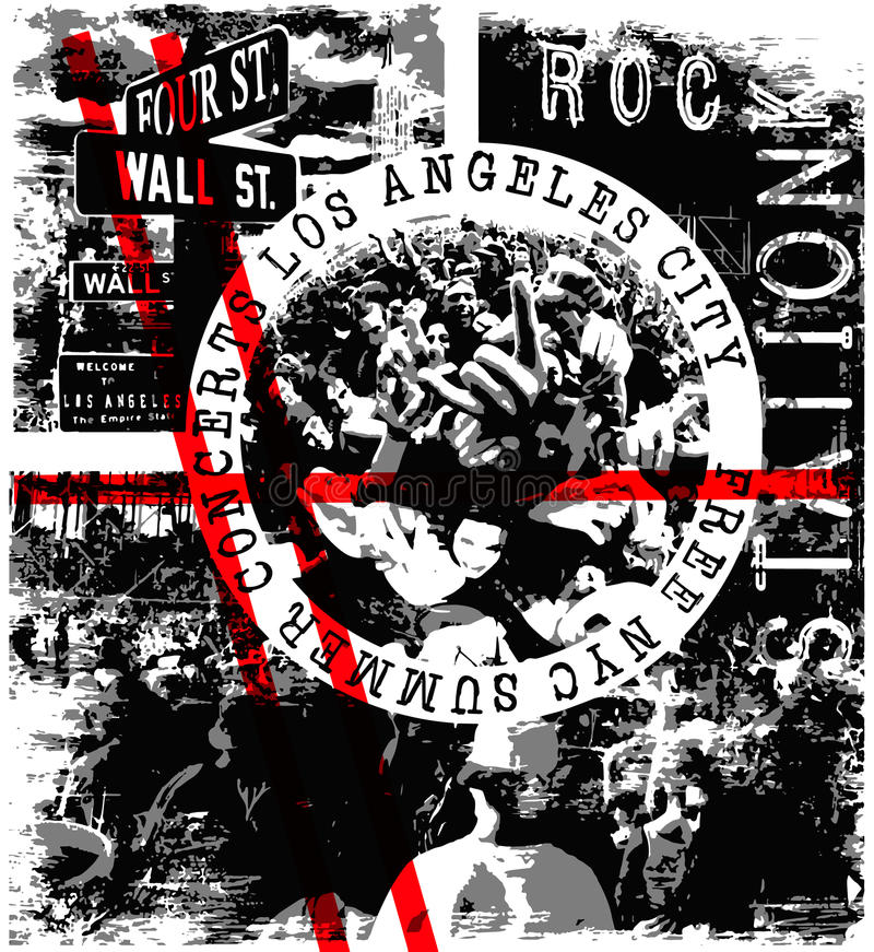 Rockowego koncerta plakat royalty ilustracja