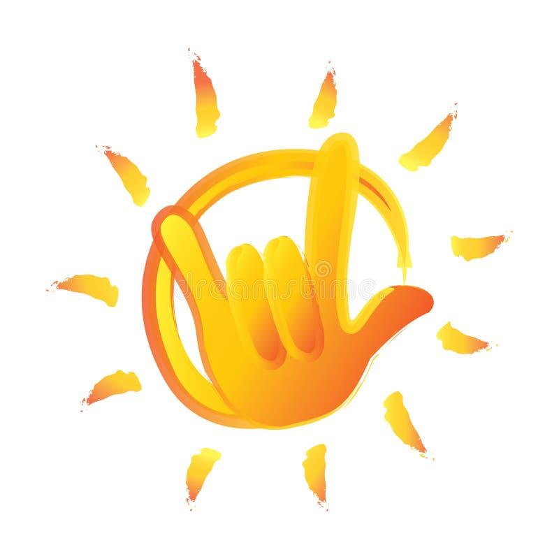 Rockowego lata gorący słońce ilustracji