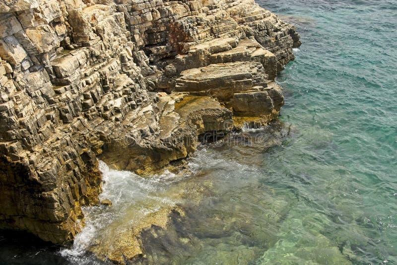 Rockowy brzeg południowy Istria, Chorwacja obrazy royalty free