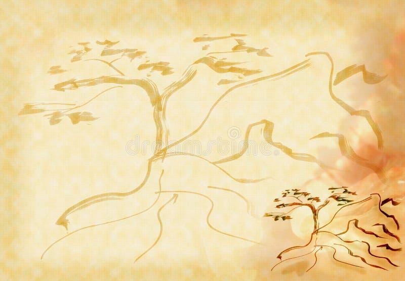 rockowy drzewo ilustracja wektor