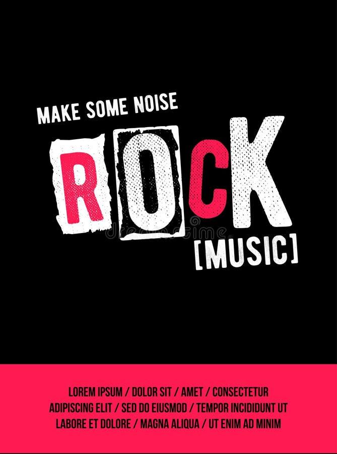 Rockowy festiwalu plakat ilustracja wektor