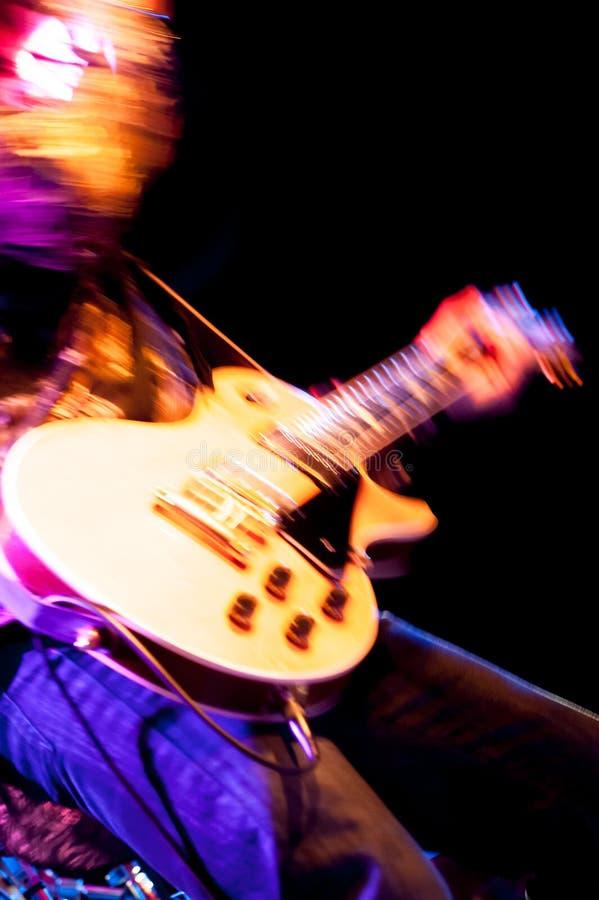 Rockowy gitarzysta obrazy royalty free