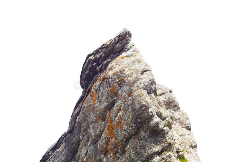 Rockowy kamień odizolowywający na białym tle zdjęcie stock