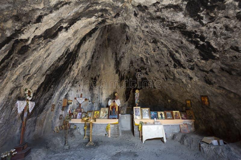 Rockowy kościół na Crete, Grecja fotografia royalty free