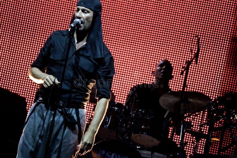 rockowy laibach piosenkarz zdjęcie royalty free