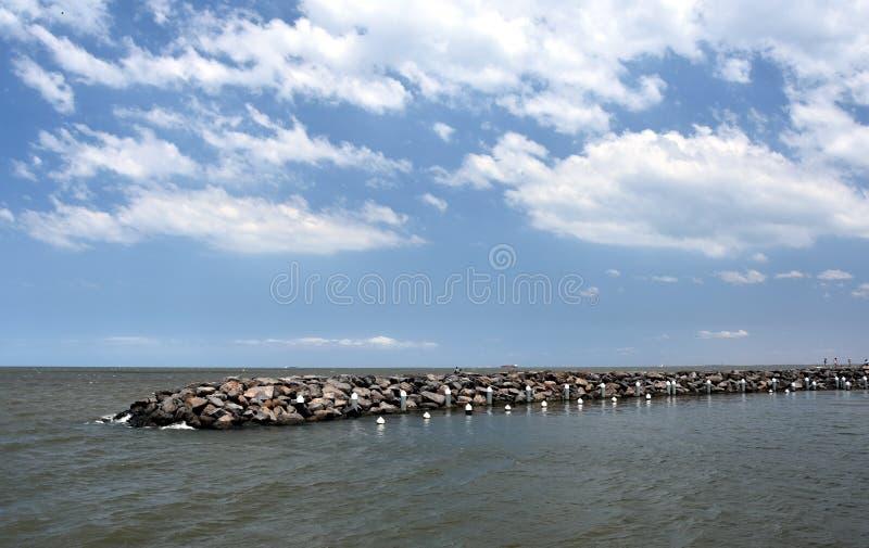 Rockowy molo przy St Kilda obraz stock